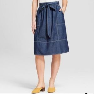 Universal Thread Chambray Midi Skirt